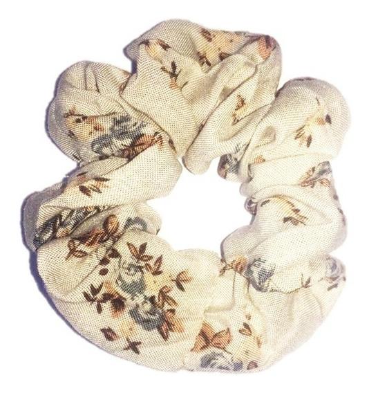 Colitas De Pelo Scrunchies - Diseños Exclusivos- Flores