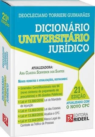 Dicionário Universitário Jurídico - 21ª Ed. 2017
