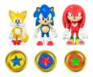Sonic Figuras Muñecos Pack De 3 Original Tomy Full