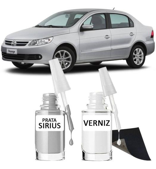 Tinta Tira Risco Automotiva Prata Sirius Vw 15ml