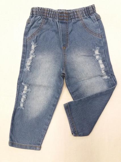 Calça Jeans Bebe Menina E Menino 3 Meses A 1 Ano