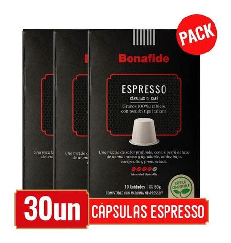 Imagen 1 de 4 de Bonafide Pack Cápsulas De Café - Espresso 30 Unidades