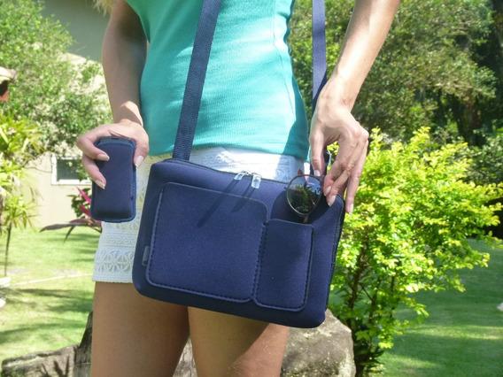 Bolsa Feminina C/ 2 Bolsos (compatível Para Tablet)+ Brinde