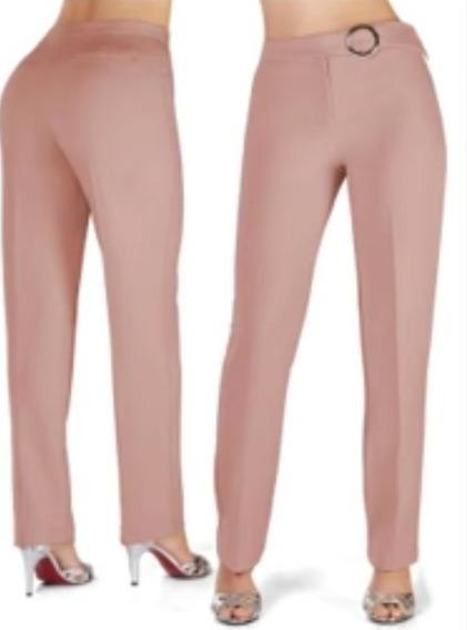 Pantalon 17575 Vestir De Palazo Rosa Maquillaje Coctel
