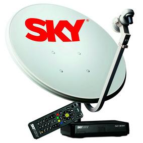 Receptor Sky Pré Pago Hdmi + Kit Antena 60cm + Habilitação