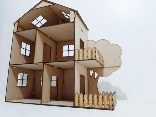 Casa De Muñecas Mdf, Casa Lol Para Pintar, Para Niños