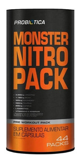 Monster Nitro 44 Packs - Probiótica [nova Formula + Forte]
