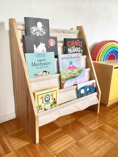 Biblioteca Infantil 5 Bolsillos De Tela Montessori Niños