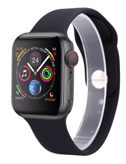 Iwo 8 Preto Smartwatch + Pulseira Extra E Película