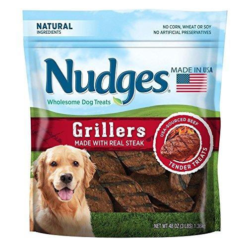 Imagen 1 de 3 de Nudges Wholesome Dog Treats Steak Grillers 48 Oz Big Bag