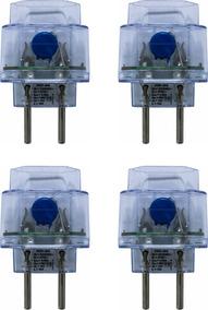 Kit 4 Protetor Surtos Raios Dps Pocket 2 Pinos Tipo Clamper