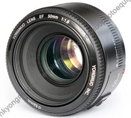 Lente Youngnou 50mm Af_s F1.8 Usado Novo No Plástico