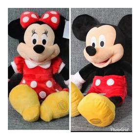 Minnie Vermelha 50 Cm + Mickey 45 Cm - Original Disney Store