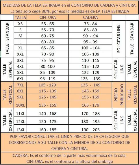 Calza Recta Talle Xespecial Tiro Alto 100% Lycra 7x-10x