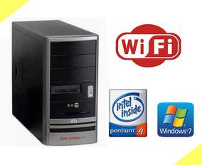 Cpu Sti Pentium 4 3.0ghz, 1gb Ddr, Hd 40gb, Windows 7, Wi-fi