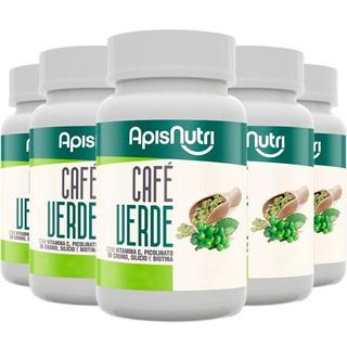 Kit Com 5 Café Verde - Apisnutri 90 Cápsulas