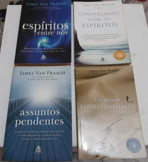 Lote 4 Livros James Van Praagh Espiritualidade Conforme Foto