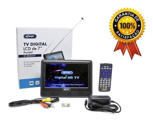 Mini Tv Digital Full Lcd De 7'' Digital Knup