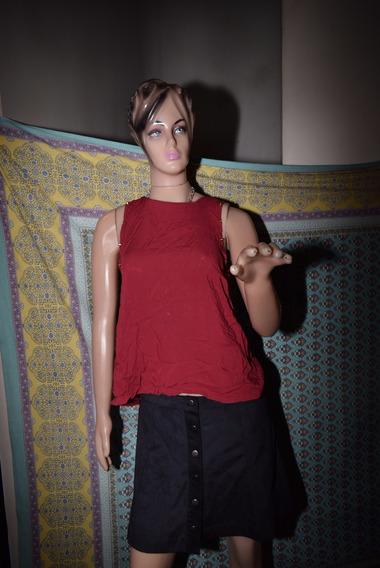 47 Street Musculosa Roja Con Tachas