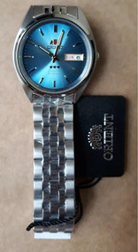 Relógio Orient Automatico Aço Masculino Classico Azul