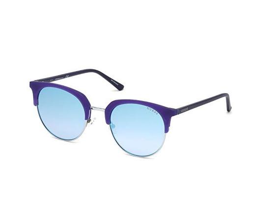 Guess Gu3026 Wayfarer - Anteojos De Sol (52 Mm), Color Azul
