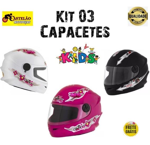 Kit 03 Capacetes Infantil Pro Tork