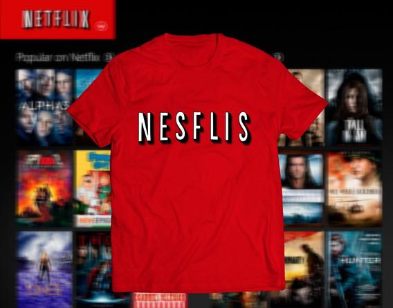 Playera De Netflix Estampada Con Vinil