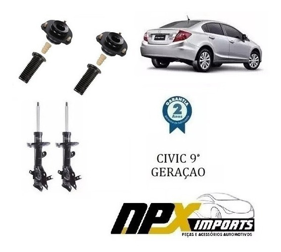 Kit Amortecedor Dianteiro Civic 2012 2013 2014 2015 2016
