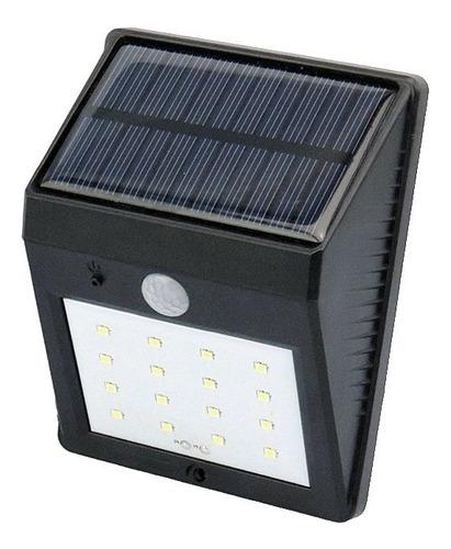 Lampara Foco Led Luz Panel Solar Sensor Movimiento 20 Leds