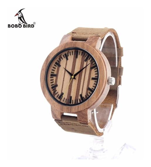 Reloj De Madera Bobo Bird 100% Original Remate X03
