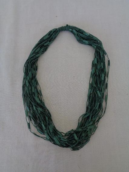 Cordão Tecido Vintage Verde 01*