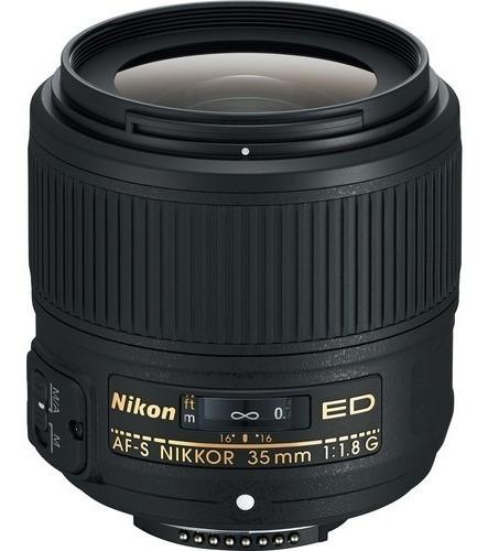 Lente Nikon Af-s Nikkor 35mm F/1.8g Ed - Lj. Platinum
