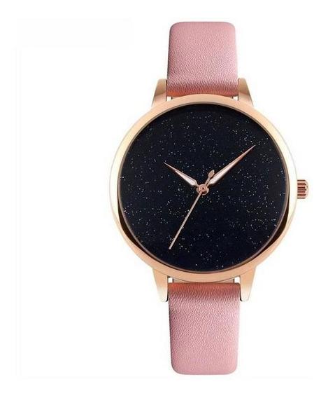 Relógio Feminino Analógico Skmei 9141 Rosa E Rose