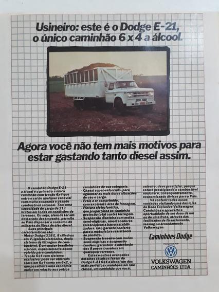 Propaganda Antiga Caminhão Vw Dodge E 21 Publicidade Anúncio