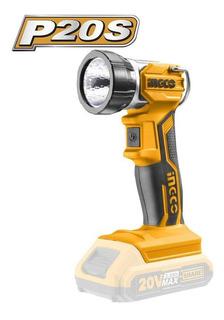 Lanterna 20v 225 Lúmens Sem Bateria E Carregador Ingco
