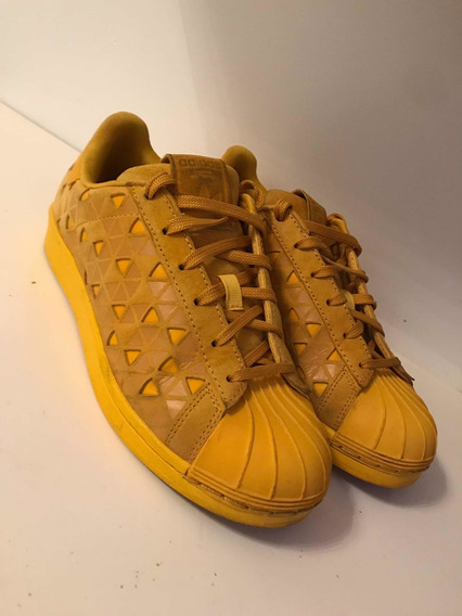 Zapatillas adidas Superstar Amarillas Talle 38