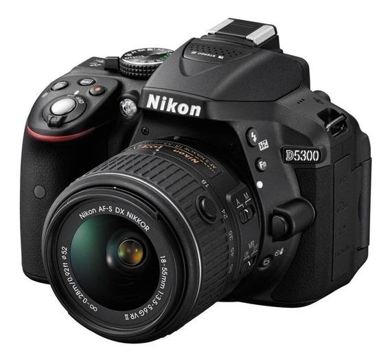 Nikon D5300 18-55mm VR Kit DSLR preta
