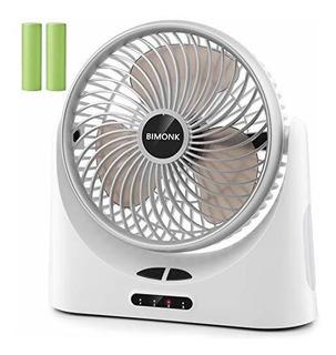 Ventilador Con Bateria Bimonk Recargable, Flujo De Aire Fuer