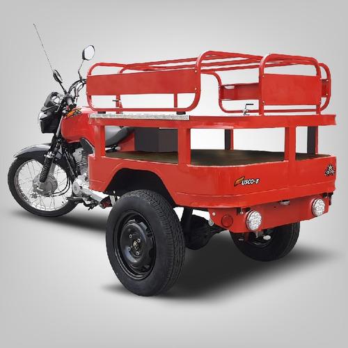 Triciclo De Carga Gás Fusco 8 - Faz 30km/l -transporta 300kg