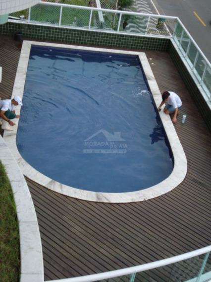 Apartamento Frente Ao Mar E Mobiliado No Forte, Lazer. Confira Na Imobiliária Em Praia Grande. - Mp7320