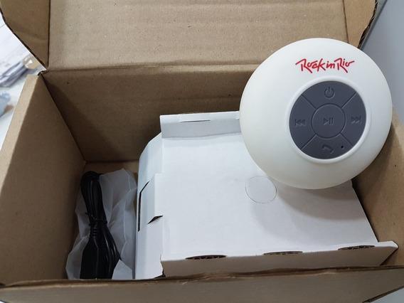 Caixa De Som Bluetooth Aquarius Original Rock In Rio