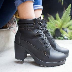 Botas Botines Zapatos Casuales Mujer De Cuero
