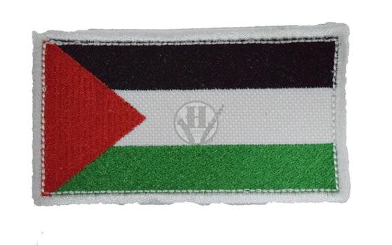 Parche Bordada Bandera Palestina Clasica Abrojo