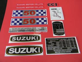 Kit De Adesivos Da Época (réplica) Suzuki A-50 72 A 75