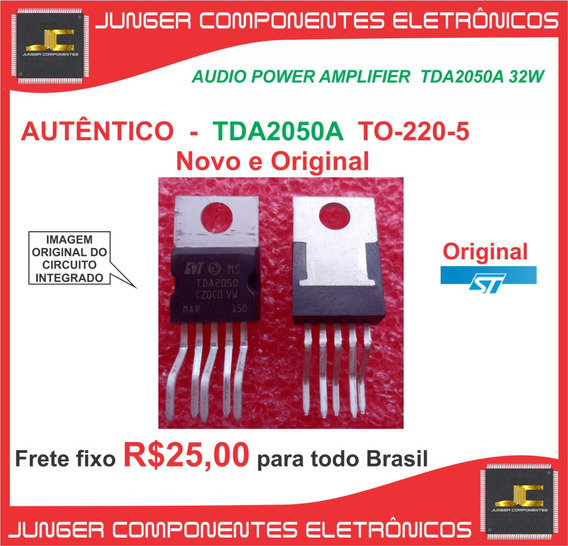 Tda2050 - 2050 -tda2050a - Tda2050 - Amplificador - Caixa .