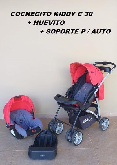Cochecito Kiddy C30 + Huevito + Soporte Para Auto Usado