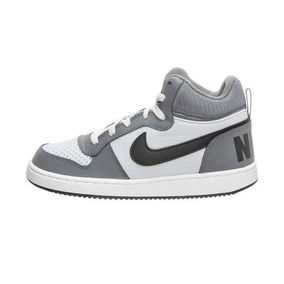 Tenis Nike Court Borough Mid Gris Negro 22.5-25