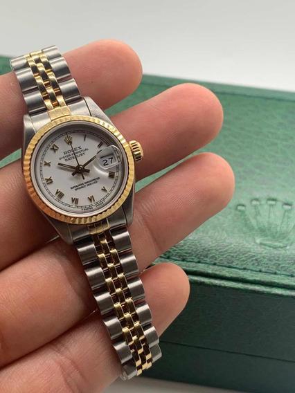 Rolex Datejust Acero Oro Numeros Romanos Dama Zafiro Cartier