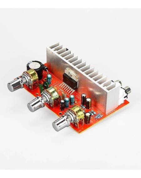 Amplificador Tda 7377 Stéreo 40w C Equalizador Dissip Knob