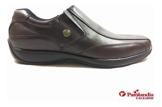 Zapatos Oxigeno Off Elástico Hombre Cuero Marrón N° 39 / 45